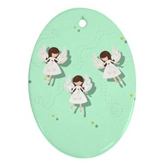 Christmas Angels  Ornament (oval) by Valentinaart