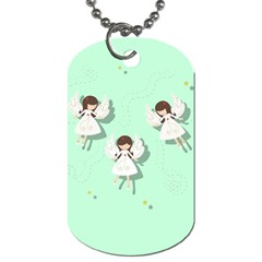 Christmas Angels  Dog Tag (one Side) by Valentinaart