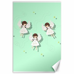 Christmas Angels  Canvas 24  X 36  by Valentinaart
