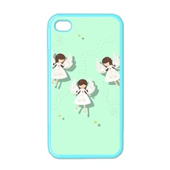 Christmas Angels  Apple Iphone 4 Case (color) by Valentinaart