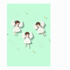 Christmas Angels  Small Garden Flag (two Sides) by Valentinaart