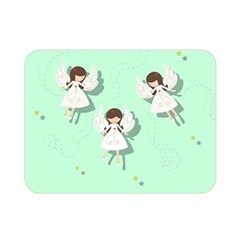 Christmas Angels  Double Sided Flano Blanket (mini)  by Valentinaart
