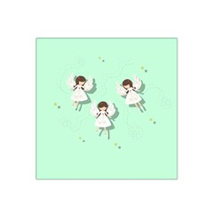 Christmas Angels  Satin Bandana Scarf by Valentinaart