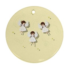 Christmas Angels  Ornament (round) by Valentinaart