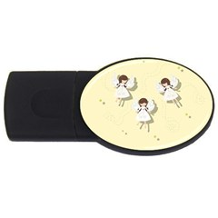 Christmas Angels  Usb Flash Drive Oval (4 Gb) by Valentinaart