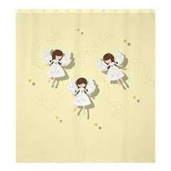 Christmas Angels  Shower Curtain 66  X 72  (large)  by Valentinaart