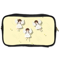 Christmas Angels  Toiletries Bags 2 Side by Valentinaart