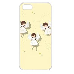Christmas Angels  Apple Iphone 5 Seamless Case (white) by Valentinaart