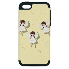 Christmas Angels  Apple Iphone 5 Hardshell Case (pc+silicone) by Valentinaart