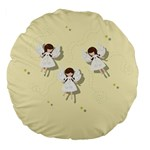 Christmas angels  Large 18  Premium Flano Round Cushions Back