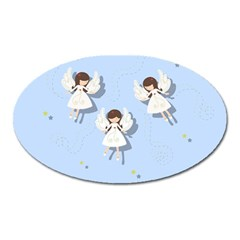 Christmas Angels  Oval Magnet by Valentinaart