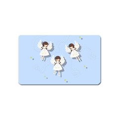Christmas Angels  Magnet (name Card) by Valentinaart