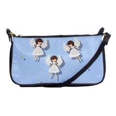 Christmas Angels  Shoulder Clutch Bags by Valentinaart