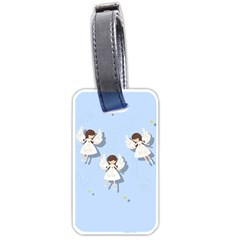 Christmas Angels  Luggage Tags (two Sides) by Valentinaart