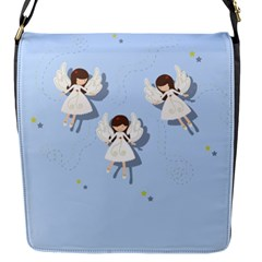 Christmas Angels  Flap Messenger Bag (s) by Valentinaart