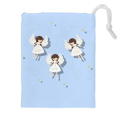 Christmas Angels  Drawstring Pouches (xxl) by Valentinaart