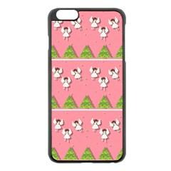 Christmas Angels  Apple Iphone 6 Plus/6s Plus Black Enamel Case by Valentinaart