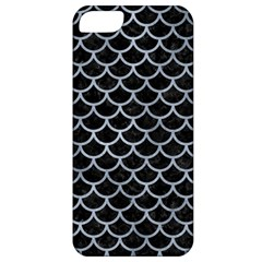 Scales1 Black Marble & Silver Paint (r) Apple Iphone 5 Classic Hardshell Case by trendistuff
