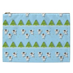 Christmas Angels  Cosmetic Bag (xxl)  by Valentinaart