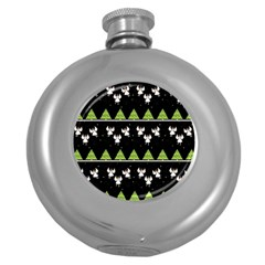 Christmas Angels  Round Hip Flask (5 Oz) by Valentinaart