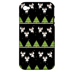 Christmas Angels  Apple Iphone 4/4s Hardshell Case (pc+silicone) by Valentinaart
