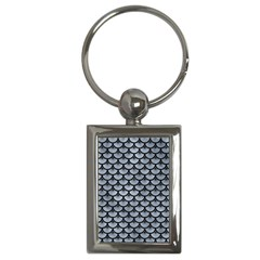 Scales3 Black Marble & Silver Paint Key Chains (rectangle)  by trendistuff