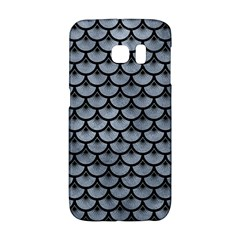 Scales3 Black Marble & Silver Paint Galaxy S6 Edge by trendistuff