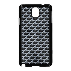 Scales3 Black Marble & Silver Paint (r) Samsung Galaxy Note 3 Neo Hardshell Case (black) by trendistuff
