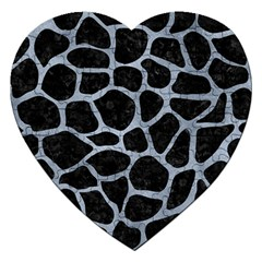 Skin1 Black Marble & Silver Paint Jigsaw Puzzle (heart) by trendistuff