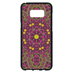 Butterflies  Roses In Gold Spreading Calm And Love Samsung Galaxy S8 Plus Black Seamless Case