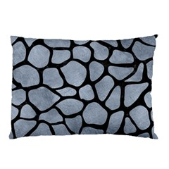 Skin1 Black Marble & Silver Paint (r) Pillow Case (two Sides) by trendistuff