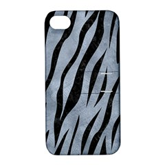 Skin3 Black Marble & Silver Paint Apple Iphone 4/4s Hardshell Case With Stand by trendistuff