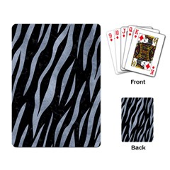 Skin3 Black Marble & Silver Paint (r) Playing Card by trendistuff