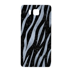 Skin3 Black Marble & Silver Paint (r) Samsung Galaxy Alpha Hardshell Back Case by trendistuff