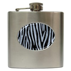 Skin4 Black Marble & Silver Paint Hip Flask (6 Oz) by trendistuff
