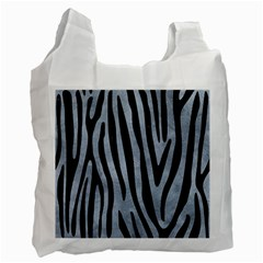Skin4 Black Marble & Silver Paint (r) Recycle Bag (two Side)  by trendistuff