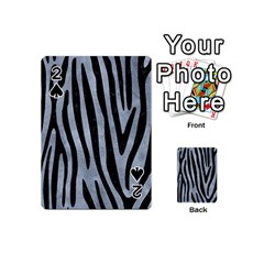 Skin4 Black Marble & Silver Paint (r) Playing Cards 54 (mini)  by trendistuff