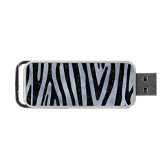 Skin4 Black Marble & Silver Paint (r) Portable Usb Flash (one Side) by trendistuff