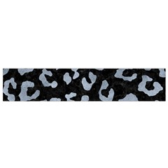 Skin5 Black Marble & Silver Paint Small Flano Scarf