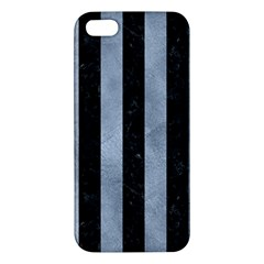 Stripes1 Black Marble & Silver Paint Iphone 5s/ Se Premium Hardshell Case