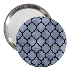Tile1 Black Marble & Silver Paint 3  Handbag Mirrors by trendistuff