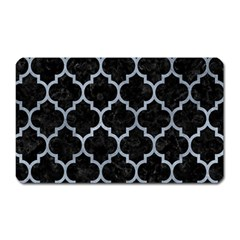 Tile1 Black Marble & Silver Paint (r) Magnet (rectangular) by trendistuff