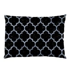 Tile1 Black Marble & Silver Paint (r) Pillow Case (two Sides) by trendistuff