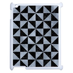 Triangle1 Black Marble & Silver Paint Apple Ipad 2 Case (white) by trendistuff