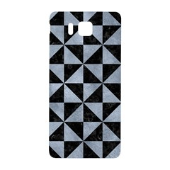 Triangle1 Black Marble & Silver Paint Samsung Galaxy Alpha Hardshell Back Case by trendistuff