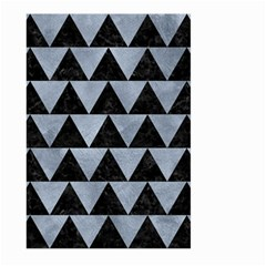 Triangle2 Black Marble & Silver Paint Large Garden Flag (two Sides) by trendistuff