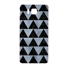 Triangle2 Black Marble & Silver Paint Samsung Galaxy Alpha Hardshell Back Case by trendistuff