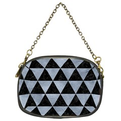 Triangle3 Black Marble & Silver Paint Chain Purses (one Side)  by trendistuff