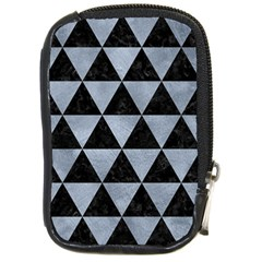 Triangle3 Black Marble & Silver Paint Compact Camera Cases by trendistuff
