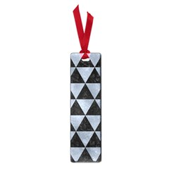 Triangle3 Black Marble & Silver Paint Small Book Marks by trendistuff